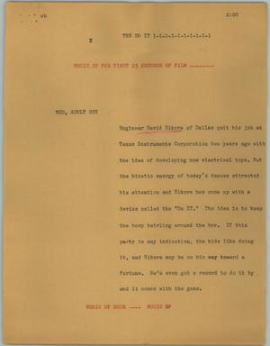 Primary view of object titled '[News Script: The Do It]'.