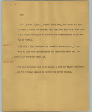 Primary view of object titled '[News Script: King]'.