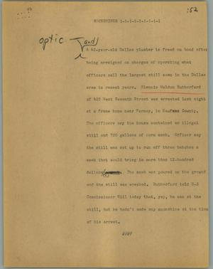 Primary view of object titled '[News Script: Moonshiner]'.