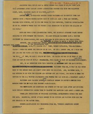 Primary view of object titled '[News Script: Gordon trial]'.
