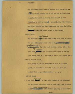 Primary view of object titled '[News Script: Volantes]'.