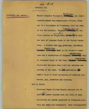 Primary view of object titled '[News Script: SMAJ]'.