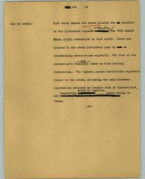 Primary view of object titled '[News Script: JCs]'.
