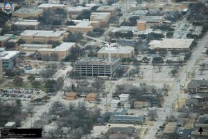 Primary view of object titled '[South Eastern Aerial of UNT Campus]'.