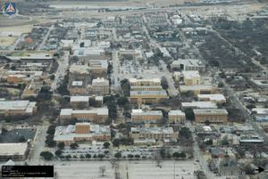 Primary view of object titled '[North-Eastern Aerial of UNT Campus]'.