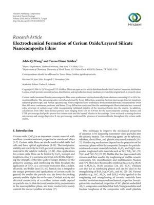 Electrochemical Formation of Cerium Oxide/Layered Silicate Nanocomposite Films