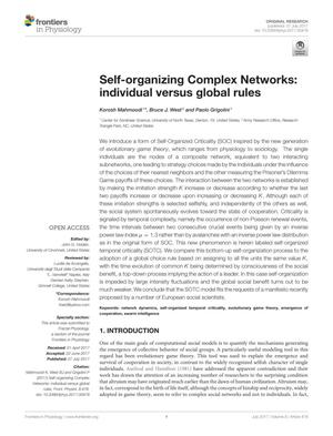 Self-organizing Complex Networks: individual versus global rules
