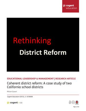 Coherent district reform: A case study of two California school districts
