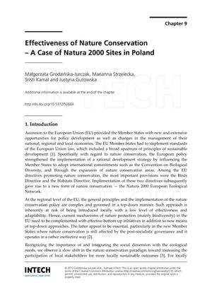 Primary view of object titled 'Effectiveness of Nature Conservation - A Case of Natura 2000 Sites in Poland'.