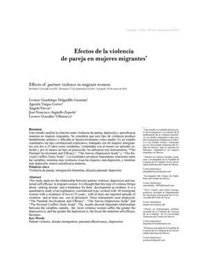 Efectos de la violencia de pareja en mujeres migrantes