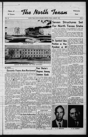 The North Texan, Volume 10, Number 4, August 1959