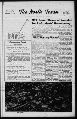 The North Texan, Volume 11, Number 1, October 1959