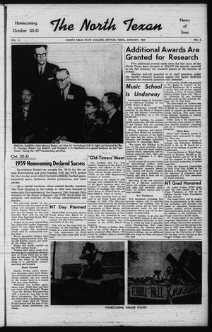 The North Texan, Volume 11, Number 2, January 1960