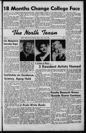 Primary view of object titled 'The North Texan, Volume 11, Number 4, August 1960'.