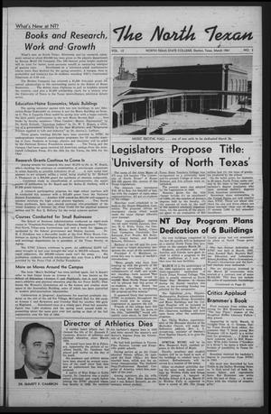 The North Texan, Volume 12, Number 2, March 1961