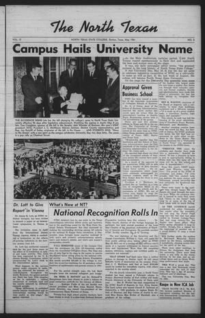 The North Texan, Volume 12, Number 3, May 1961