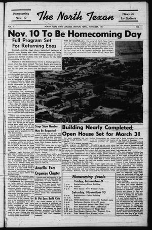 The North Texan, Volume 3, Number 1, November 1951