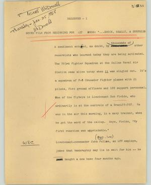 Primary view of object titled '[News Script: Reserves]'.