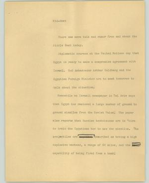 Primary view of object titled '[News Script: Mid-East]'.