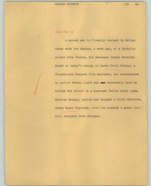 Primary view of object titled '[News Script: Murder suspect]'.