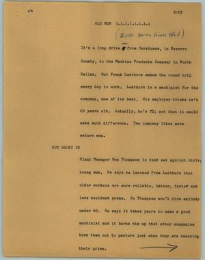 Primary view of object titled '[News Script: Old men]'.