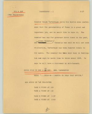 Primary view of object titled '[News Script: Yarborough]'.
