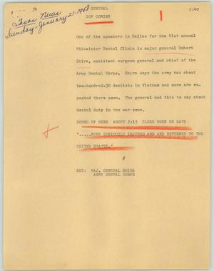 Primary view of object titled '[News Script: General]'.