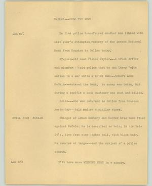 Primary view of object titled '[News Script: Dallas---Folo Tex News]'.