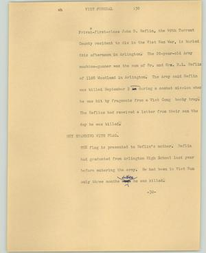 Primary view of object titled '[News Script: Viet funeral]'.