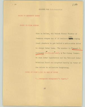 Primary view of object titled '[News Script: Chamber Man]'.