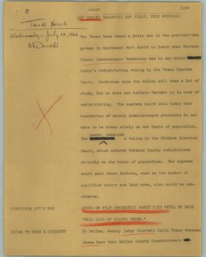 Primary view of object titled '[News Script: Court]'.
