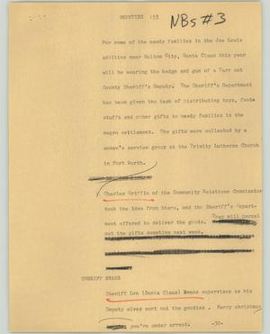 Primary view of object titled '[News Script: Deputies]'.