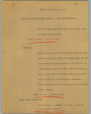 Primary view of object titled '[News Script: YWCA singers]'.
