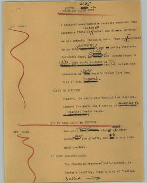 Primary view of object titled '[News Script: Flutes]'.