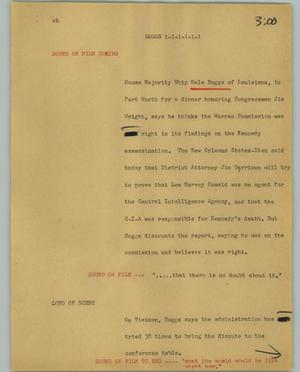 Primary view of object titled '[News Script: Boggs]'.
