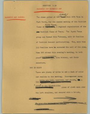 Primary view of object titled '[News Script: Scottish]'.
