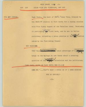 Primary view of object titled '[News Script: Hugh Downs]'.