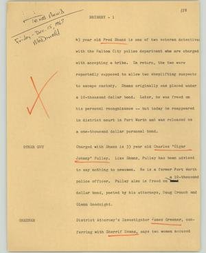 Primary view of object titled '[News Script: Bribery]'.