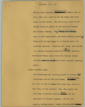 Primary view of object titled '[News Script: Japanese]'.