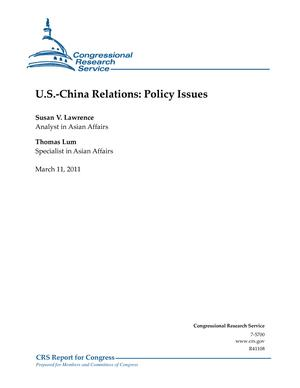 U.S.-China Relations: Policy Issues