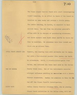Primary view of object titled '[News Script: TLCB]'.