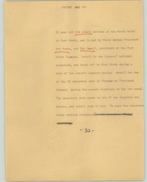 Primary view of object titled '[News Script: Jaycee]'.
