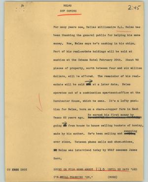 Primary view of object titled '[News Script: Nelms]'.