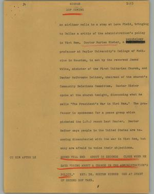 Primary view of object titled '[News Script: Rieber]'.
