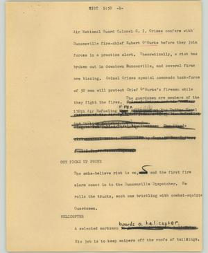 Primary view of object titled '[News Script: Riot]'.