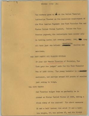 Primary view of object titled '[News Script: Muscle]'.