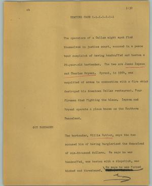 Primary view of object titled '[News Script: Beating case]'.