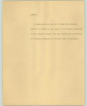 Primary view of object titled '[News Script: Burn]'.