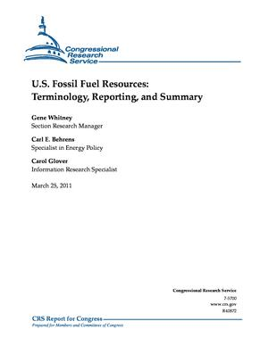 U.S. Fossil Fuel Resources: Terminology, Reporting, and Summary