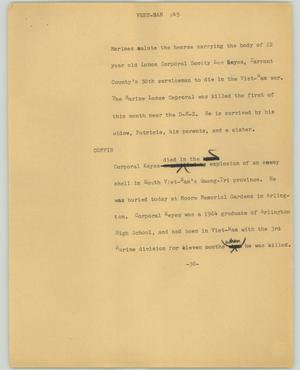 Primary view of object titled '[News Script: Veet-Nam]'.